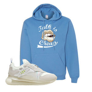 Air Max 720 OBJ Slip White Hoodie | California Blue, Talk is Cheap