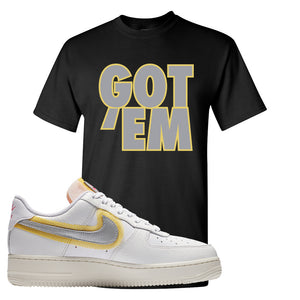 Air Force 1 Low 07 LX White Gold T Shirt | Got Em, Black