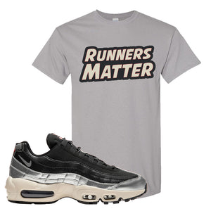 3M x Nike Air Max 95 Silver and Black T Shirt | Runners Matter, Gravel