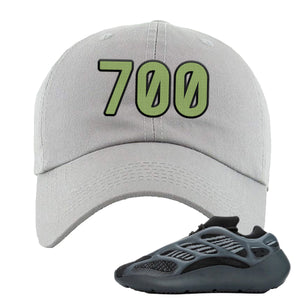 Yeezy Boost 700 V3 Alvah Sneaker Light Gray Dad Hat | Hat match Adidas Yeezy Boost 700 V3 Alvah Shoes | 700 Logo