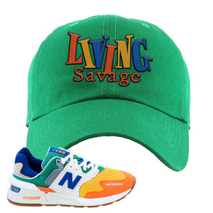 997S Multicolor Sneaker Kelly Dad Hat | Hat to match New Balance 997S Multicolor Shoes | Living Savage