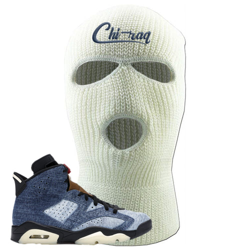 Air Jordan 6 Washed Denim Chi-raq White Sneaker Hook Up Ski Mask