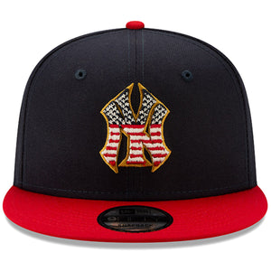 New York Yankees Stars and Stripes 2019 Fourth Of July On Field 9FIFTY Youth Snapback Cap