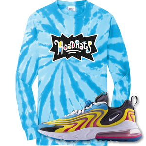Hood Rats Turquoise Longsleeve T-Shirt to match Air Max 270 React ENG Laser Blue Sneakers