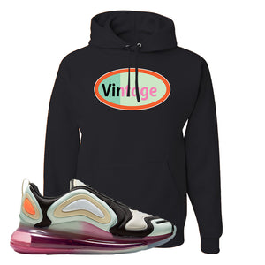 Air Max 720 WMNS Black Fossil Sneaker Black Pullover Hoodie | Hoodie to match Nike Air Max 720 WMNS Black Fossil Shoes | Vintage Oval