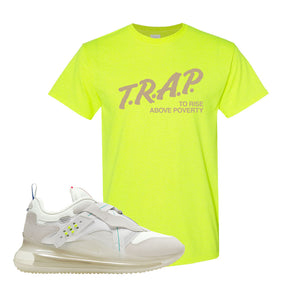 Air Max 720 OBJ Slip White T Shirt | Safety Green, Trap To Rise Above Poverty