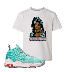 LeBron 17 'South Beach' Kid's T Shirt | White, Oh My Goodness