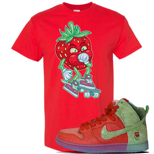 SB Dunk High 'Strawberry Cough' T Shirt | Red, Coughing Berry