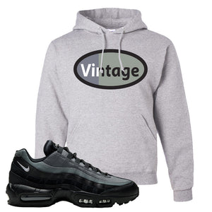 Air Max 95 Black Smoke Grey Hoodie | Vintage Oval, Ash