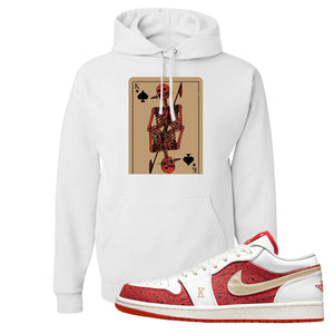 Air Jordan 1 Low Spades Hoodie | Bone Cards, White