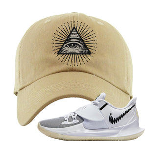 Kyrie Low 3 Dad Hat | Khaki, All Seeing Eye