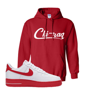 Air Force 1 Low Red Bottoms Hoodie | Red, Chiraq