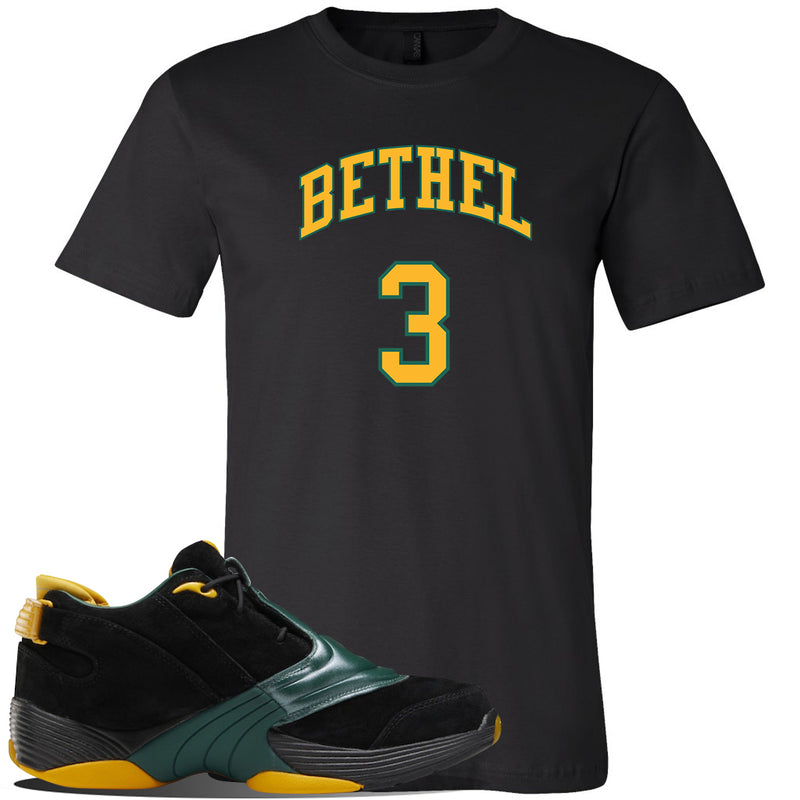 Answer 5 Bethel High Sneaker Black T Shirt | Tees to match Reebok Answer 5 Bethel High Shoes | Bethel 3 Arch