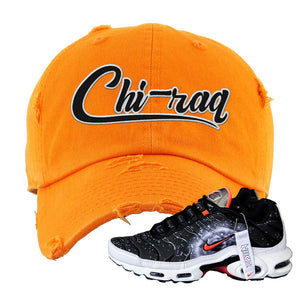 Air Max Plus Supernova 2020 Distressed Dad Hat | Orange, Chiraq
