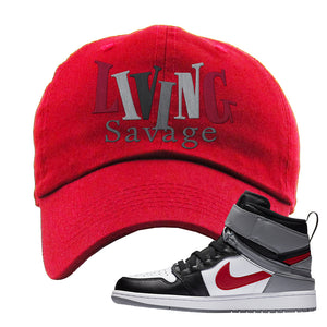 Air Jordan 1 Flyease Dad Hat | Red, Living Savage