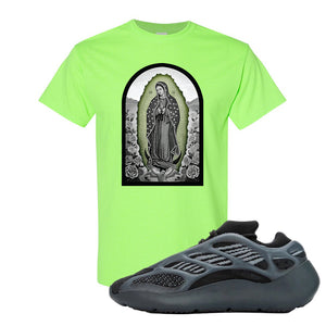 Yeezy 700 v3 Alvah T Shirt | Neon Green, Virgin Mary