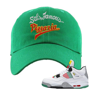 Jordan 4 WMNS Carnival Sneaker Kelly Dad Hat | Hat to match Do The Right Thing 4s | Sal's Famous Pizzeria