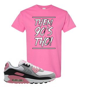 WMNS Air Max 90 Rose Pink Them 90s Tho Azalea T-Shirt To Match Sneakers