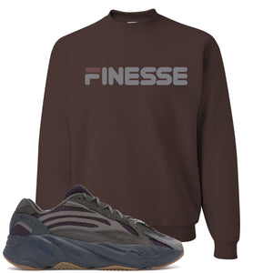 Yeezy Boost 700 Geode Sneaker Hook Up Finesse Brown Crewneck Sweater
