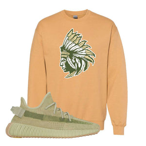 Yeezy 350 v2 Sulfur Crewneck | Old Gold, Indian Chief