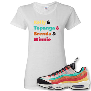 Air Max 95 Black History Month Sneaker White Women's T Shirt | Women's Tees to match Nike Air Max 95 Black History Month Shoes | Kelly And Gang
