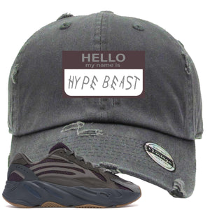 Yeezy Boost 700 Geode Sneaker Hook Up Hello My Name Is Hype Beast Woe Gray Distressed Dad Hat