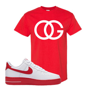 Air Force 1 Low Red Bottoms T Shirt | Red, OG