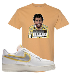 Air Force 1 Low 07 LX White Gold T Shirt | Escobar Illustration, Old Gold