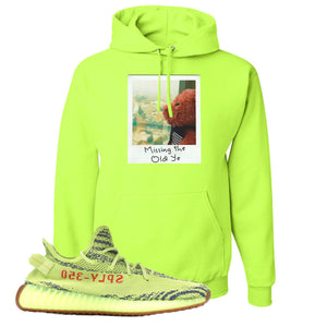 Missing The Old Ye Safety Green Pullover Hoodie to match Yeezy Boost 350 V2 Frozen Yellow Sneaker