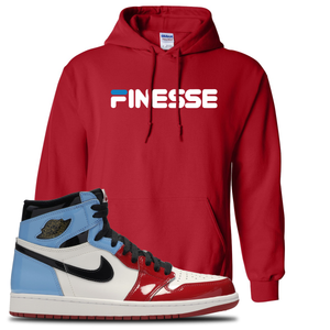 Air Jordan 1 Fearless Finesse Red Made to Match Pullover Hoodie