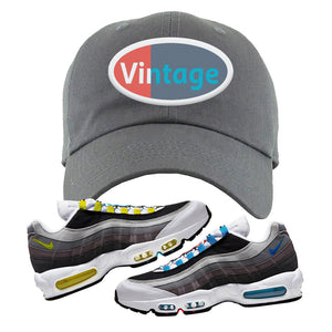 Air Max 95 QS Greedy Dad Hat | Dark Gray, Vintage Oval