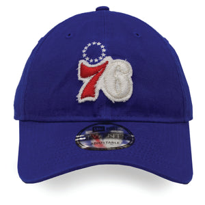 Philadelphia 76ers 9Twenty Rugged Patch Royal Blue Dad Hat