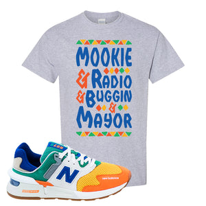 997S Multicolor Sneaker Sports Gray T Shirt | Tees to match New Balance 997S Multicolor Shoes | Mookie And Gang
