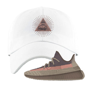 Yeezy 350 v2 Ash Stone Dad Hat | All Seeing Eye, White