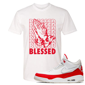This white and red t-shirt will match great with your Jordan 3 Tinker Air Max shoes