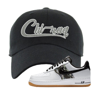 Air Force 1 Low Camo Dad Hat | Chiraq, Black