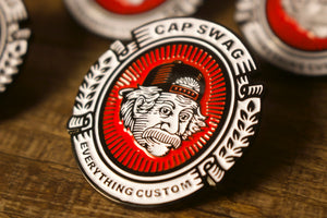 Close Up Shot Capswag Enamel Pin | Capswag Online Store Enamel Pin | Einstein Logo Pin ful