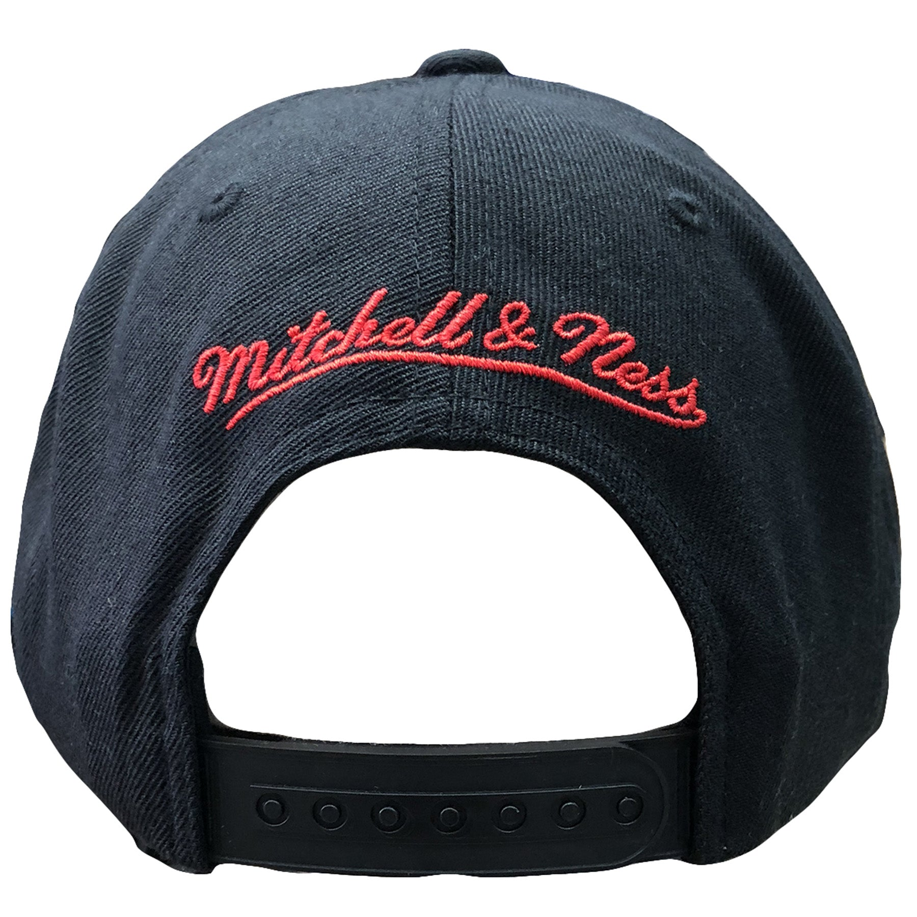 detailed pictures 264b2 7d736 ... germany the back of the portland trail blazers snapback hat has the  mitchell and ness logo