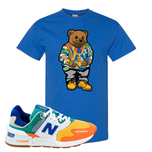 997S Multicolor Sneaker Royal T Shirt | Tees to match New Balance 997S Multicolor Shoes | Sweater Bear