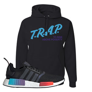 NMD R1 Gradient Hoodie | Black, Trap To Rise Above Poverty