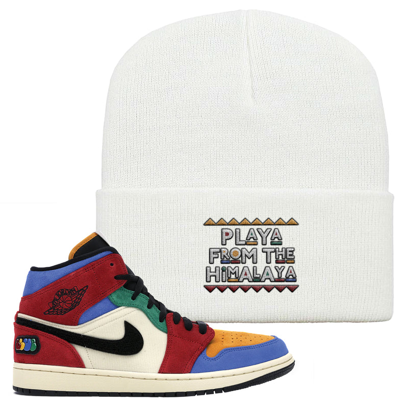Jordan 1 X Blue The Great Beanie | White, Playa From The Himalaya