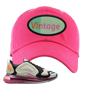 Air Max 720 WMNS Black Fossil Sneaker Pink Dad Hat | Hat to match Nike Air Max 720 WMNS Black Fossil Shoes | Vintage Oval