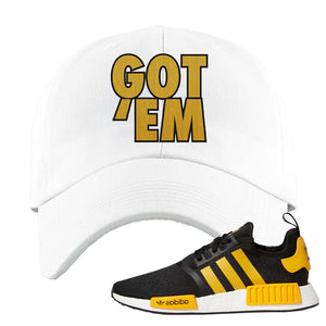 NMD R1 Active Gold Dad Hat | White, Got Em