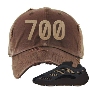 Yeezy 700 v3 Eremial Distressed Dad Hat | 700, Brown