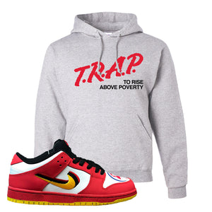 Nike Dunk Low Vietnam 25th Anniversary Pullover Hoodie | Trap To Rise Above Poverty, Ash