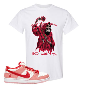 SB Dunk Low 'StrangeLove' T-Shirt | White, God Wants You Reaper