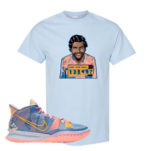 Kyrie 7 Expressions T-Shirt | Escobar Illustration, Light Blue