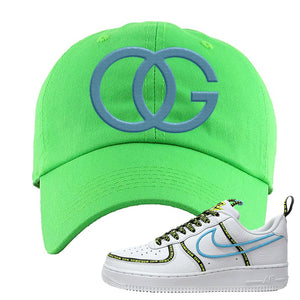 Air Force 1 '07 PRM 'Worldwide Pack' Dad Hat | Neon Green, OG