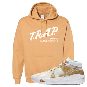 KD 13 EYBL Hoodie | Trap To Rise Above Poverty, Old Gold