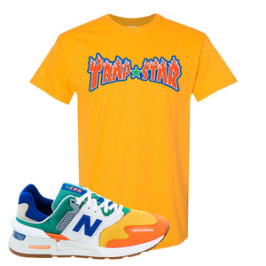 997S Multicolor Sneaker Gold T Shirt | Tees to match New Balance 997S Multicolor Shoes | Trap Star